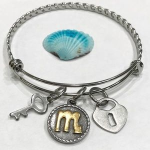 Scorpio 3D Rustic Coin Bracelet with Lock & Key